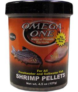 Omega one shrimp sinking pellet fish food 61g ebay for Omega one fish food