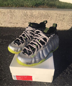 Mint Silver Camo Foamposite one