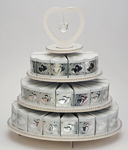 box wedding cake stand 3 tier cake stand amp 48 cake boxes favours weddings 12115