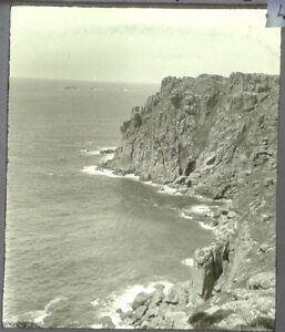 47-Lantern-Glass-Slide-Longships-Lighthouse-Lands-End-Cornwall-Photo-pre-1920s