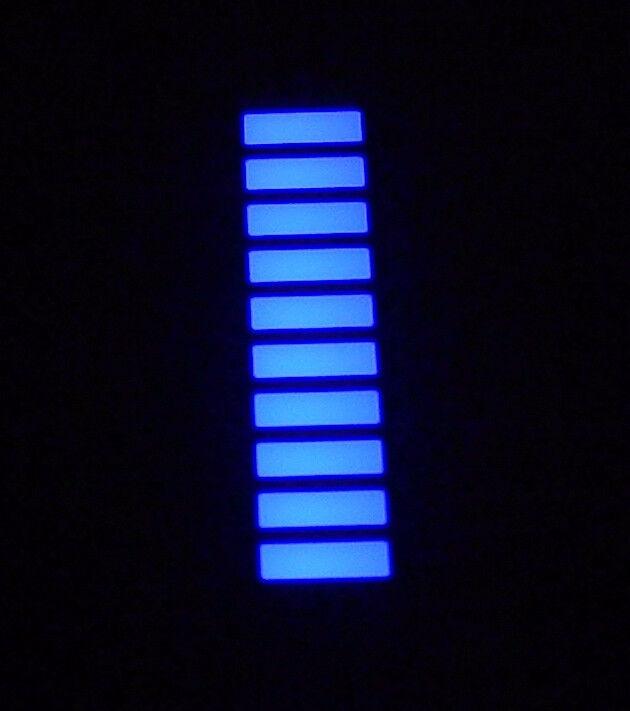 10 pcs AQUA BLUE LED Bargraph Array 10 Segments 120 mcd High Intensity NEW USA