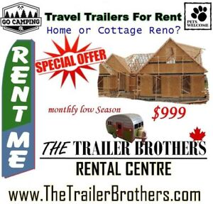 Spring or Fall Reno? Travel Trailers to Rent