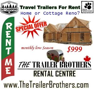 Home Reno? Travel Trailer for Rent to live in