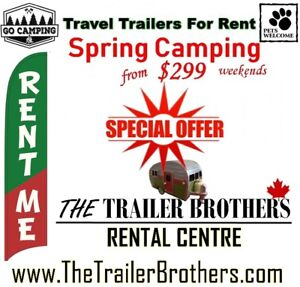 Camping? Travel Trailers for RENT