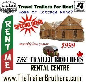 Home Renovations? Rent a Travel Trailer