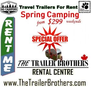 Tenters? Rent a Travel Trailer