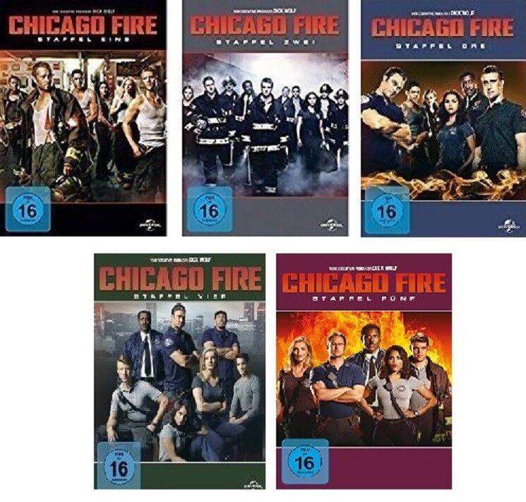 30 DVDs * CHICAGO FIRE - STAFFEL/SEASON 1 - 5 IM SET # NEU OVP +