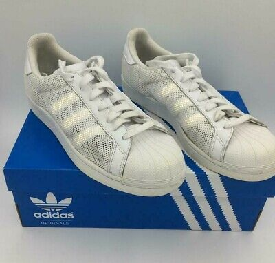 Used, Mens Adidas Originals Superstar Triple White Sneakers Shoes Trainers Size UK 7 for sale  Shipping to South Africa