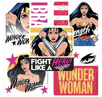 Party Favors For Women (25 DC Comics Wonder Woman Brave Hero Stickers Party Favors Teacher Supply)