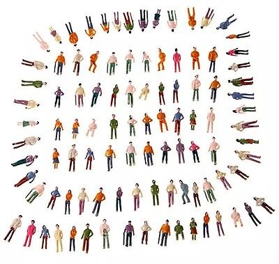 Lot Of 100 New Oo Scale 1 75 Mixed Painted People Model Train Figures Us Seller