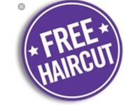 Barbers haircut for free