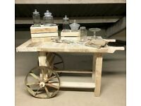 Rustic sweet cart hire for weddings & events