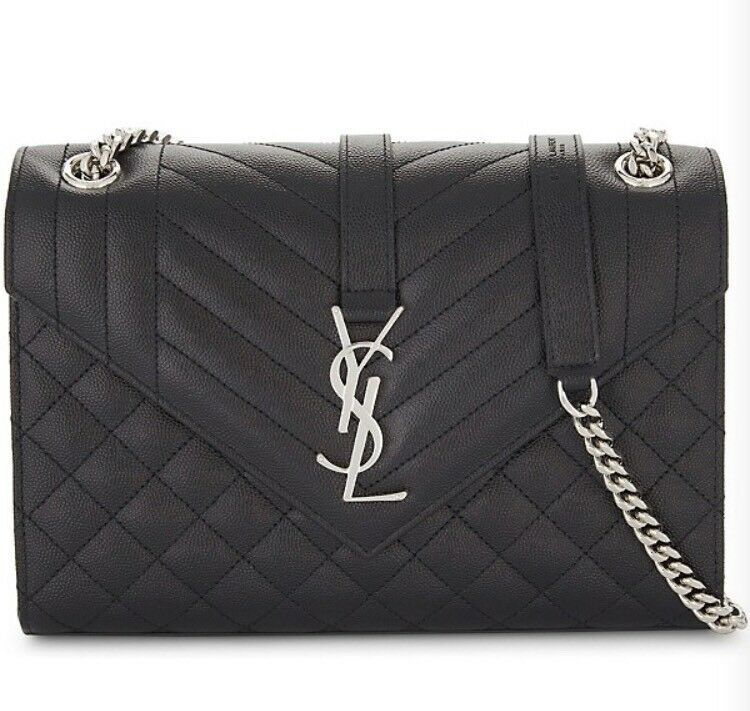 1bc1a7eaf264f YSL (YVES SAINT LAURENT) BLACK QUILTED BAG - NEW WITH TAGS