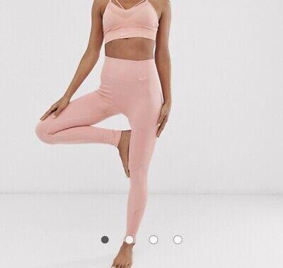 Nike Pink Seamless Yoga Activewear Gym Leggings / Tights Size XS (4-6)