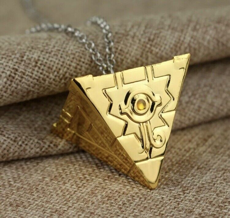 "Yu-Gi-Oh Millennium Puzzle Artifact Necklace 1"" Anime Gold US Seller"
