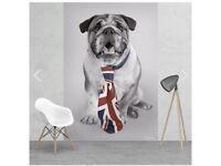 British bulldog wallpaper mural brand new and boxed