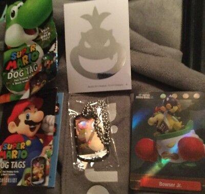 Super Mario U Dog Tags Necklace Wendy Koopa #21 - Bowser Jr Foil Card #16