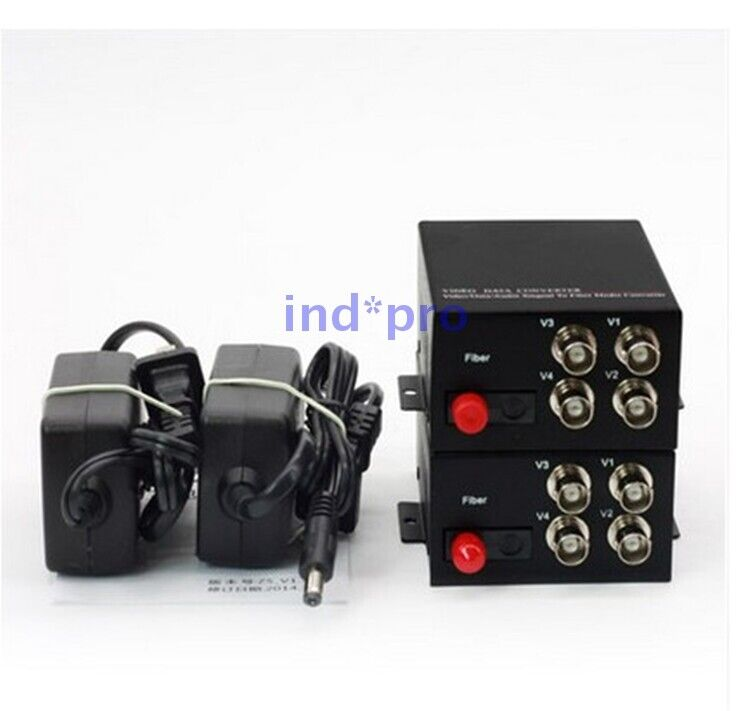 4 Video+1 Data 485 GW-DV10000-4V1D Vedio Data Singnal To Fiber Media Converter