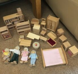 Dolls house accessories & doll family cost a lot