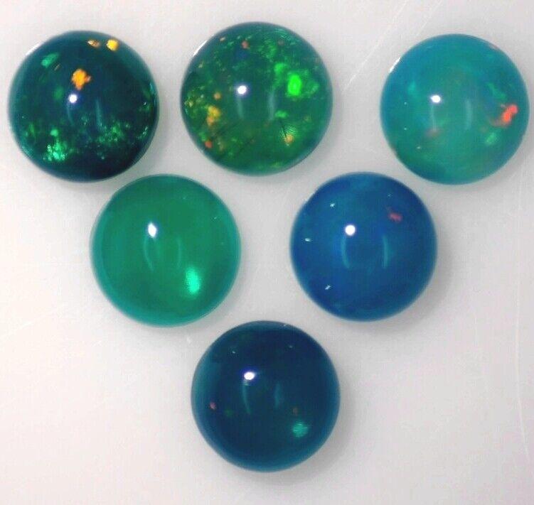 DARK BLUE GREEN OPAL 3.50 MM ROUND CABOCHON ALL NATURAL SOLD PER STONE F-1571