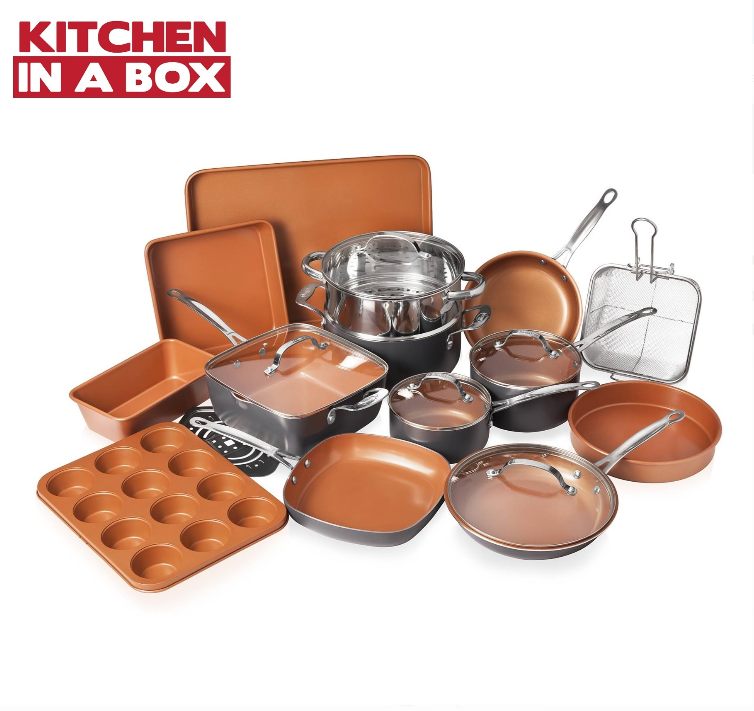 Gotham Steel 20 Piece All in One Kitchen, Nonstick Cookware & Bakeware Set, NEW!