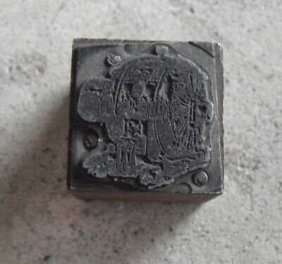 Vintage Power Generator Wood Metal Letterpress Print Block Stamp