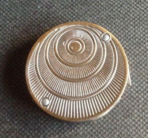 Rare Antique 4 Blade Coin Shaped Folding Fleam. Marked M.Shvir. Sme Bte.