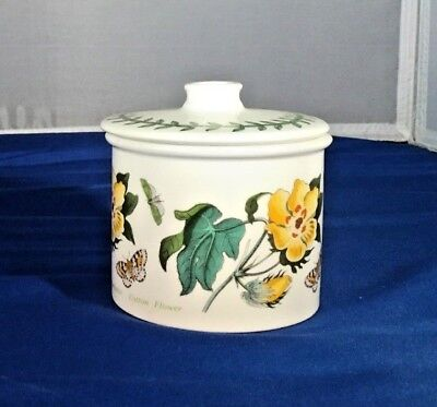 - Portmeirion Botanic Garden Covered Lidded Sugar Bowl Barbados Cotton Flower