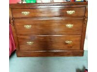 Victorian dressing table and chest of drawers
