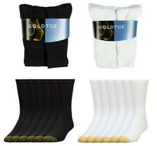 Gold Toe Men's 6 Pack Cotton Athletic Crew Socks 10-13
