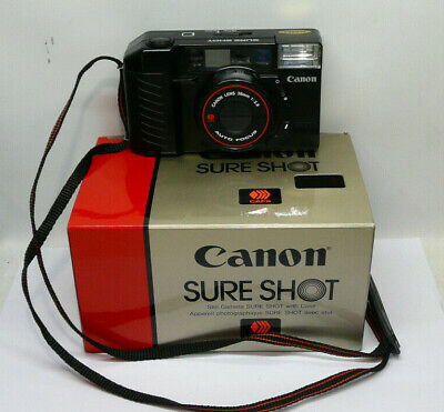 Mint & Boxed Serviced 1980s Canon Sureshot AF35M II 38mm f2.8 35mm Film Camera