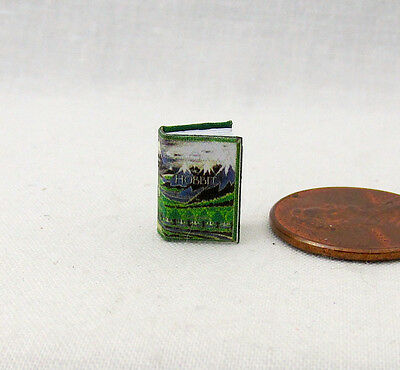 (1:24 Scale Book THE HOBBIT Miniature Book Dollhouse Color Illustrated Half Scale)