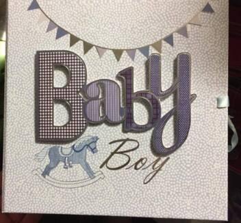 BABY BOY Blue Keepsake Drawer