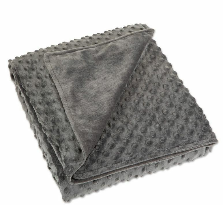 Full Coverage Weighted Blanket Duvet Cover Mink Cover Gray (King) (Cal-King) Bedding