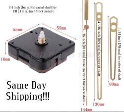 Silent Wall Clock Quartz Mechanism (Gold Pointer 40 Hands) DIY 5168s/6168s/668