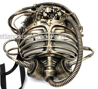 Steampunk Alien Mask Halloween Costume Prom Dance Submarine Burning man Party (Dance Party Halloween)