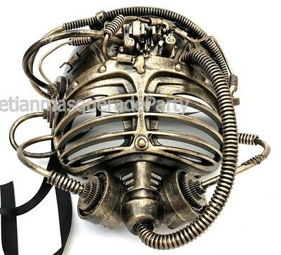 Halloween Alien Costumes (Steampunk Alien Mask Halloween Costume Prom Dance Submarine Burning man)