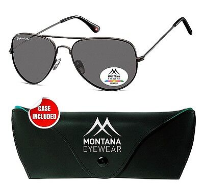 Trendige Sonnenbrille MONTANA MP96 gun Aviator Stil Polarized    vom OPTIKER