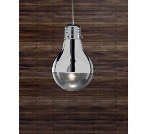 lampadario forma lampadina : Lampada-lampadario-sospensione-forma-lampadina-acciaio-cromo-design ...