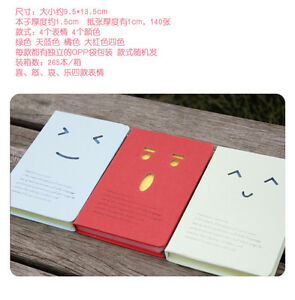 Korean-Stationery-Facial-Expression-Notebook-Pocketbook-4-Colors-1pc