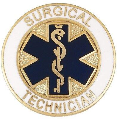 surgical technician lapel pin blue star of life medical surgery tech graduation