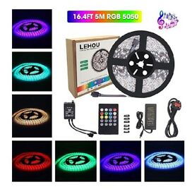 5m LED waterproof musical strip lights. Brand new in box.