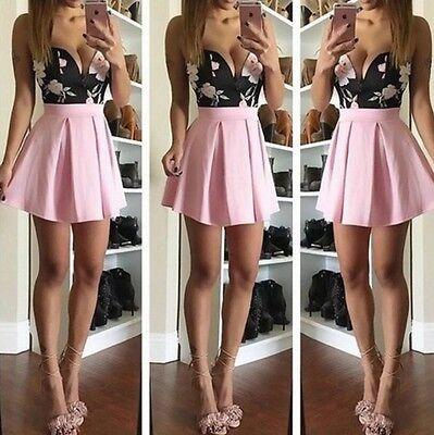 2016 New Sexy Women Ladies V-Neck Sleeveless Print Dress Sling Party Dress
