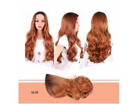 Hair Products Black To Blonde Wig Dark Roots , Body Wave Long Wigs Synthetic Hair Ombre Pruik 26""