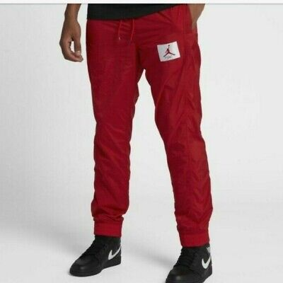 Nike Air Jordan Size Large Wings of Flight Throwback Red Retro Jogger Pants.^