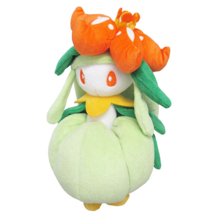 """REAL Sanei Pokemon Sun Moon All Star Collection PP117 Lilligant 7"""" Plush Doll"""