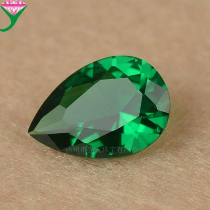 Natural Mined Colombia Green Drop Shape Cut Emerald VVS1 AAA Loose Gemstone