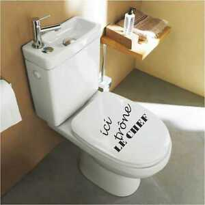sticker wc abattant de toilette wc03 ebay. Black Bedroom Furniture Sets. Home Design Ideas