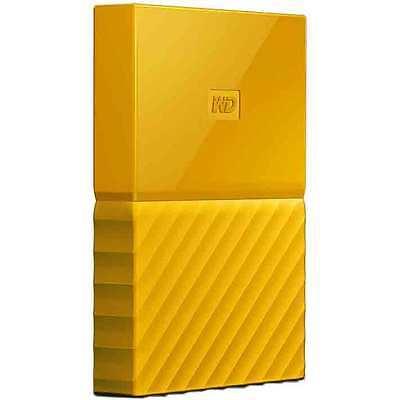 Western Digital WD 4TB My Passport Portable Hard Drive - Yellow
