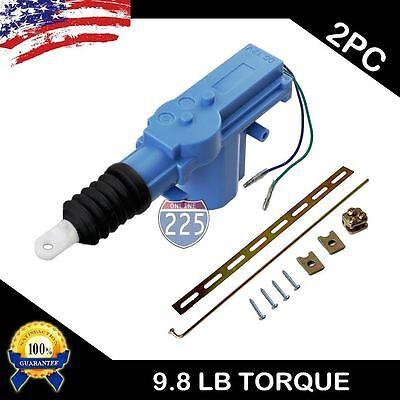 2x New UNIVERSAL POWER DOOR LOCK ACTUATOR MOTOR  2 Wire 12 Volt 9.8lb Torque USA